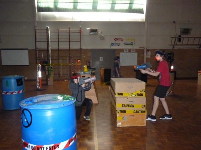 Kids activities - lasertag